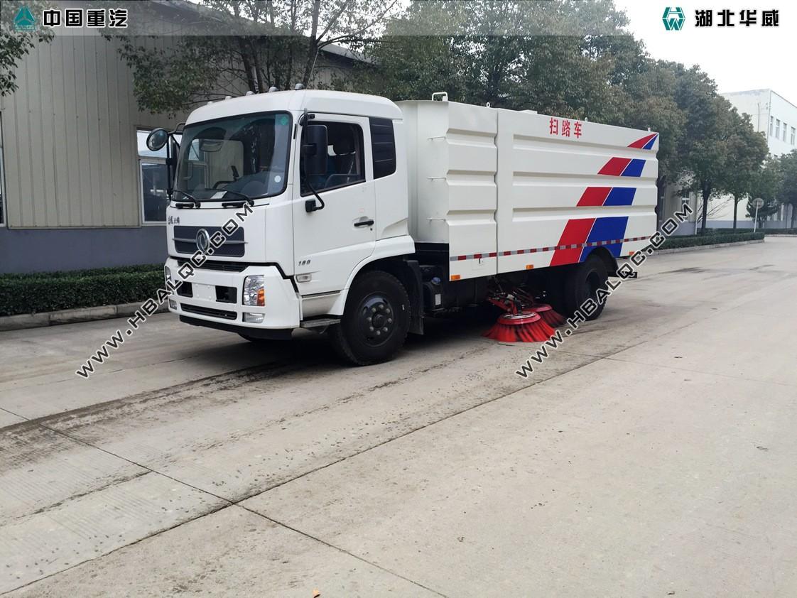 东风天锦天然气扫路车
